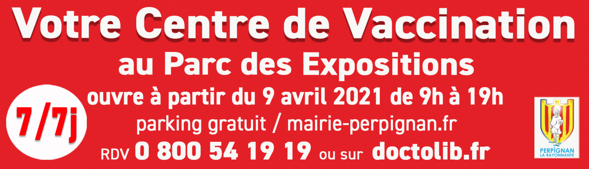 Centre de Vaccination au satellite du Parc des Expositions